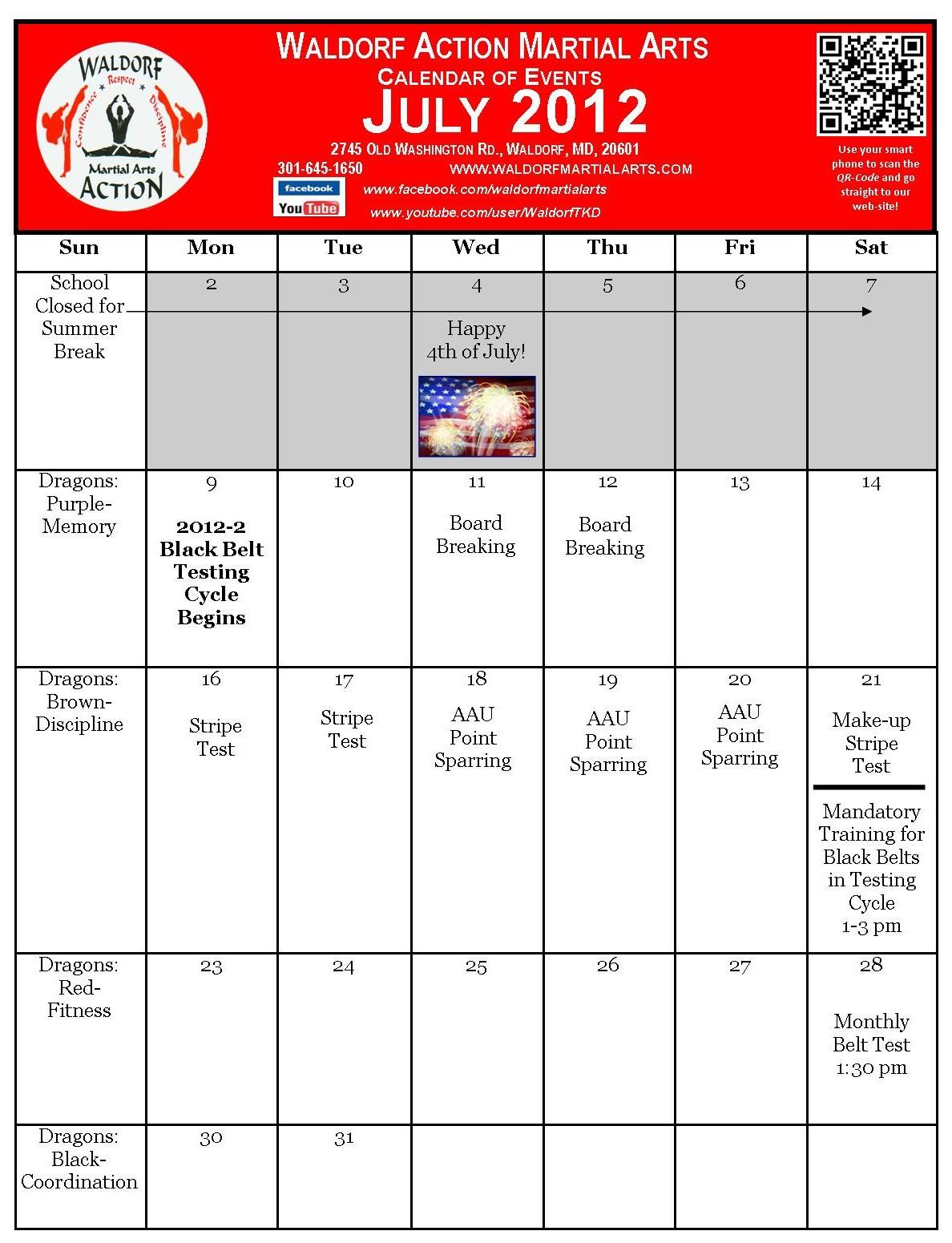 Art Events Calendar : Martial arts calendar waldorf