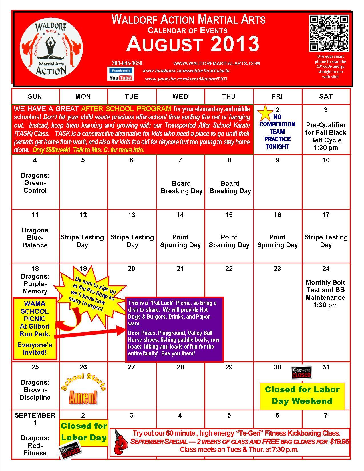 Art Events Calendar : Calendar events waldorf martial arts
