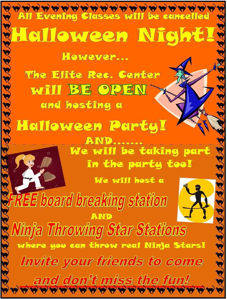 elite halloween party flyerjpg - Halloween Party Rules