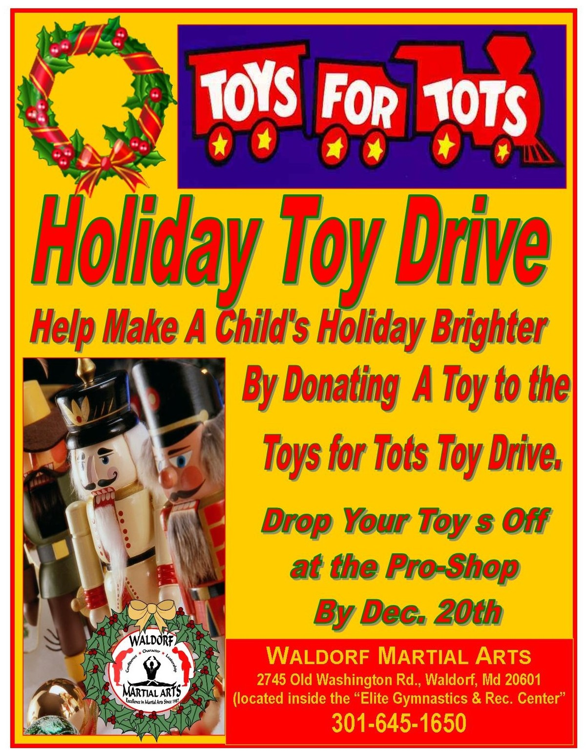 2014 Facebook Toy Drive Flyer