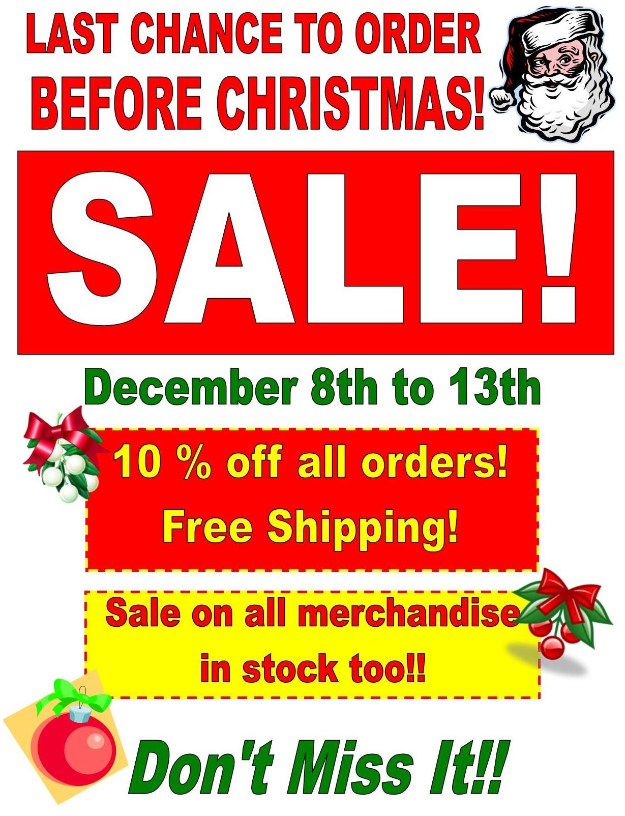2014 Last Chance Sale flyer