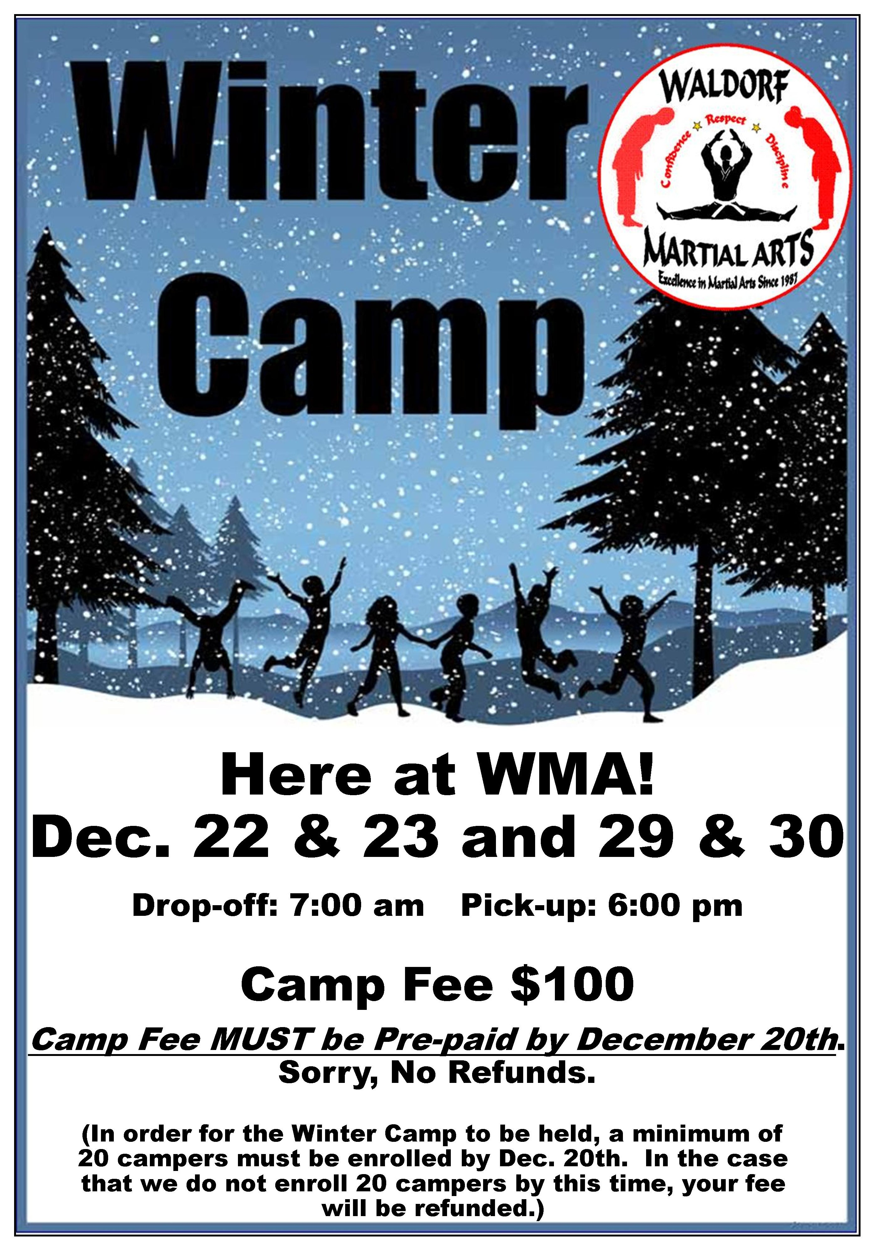 2014 Winter Camp poster