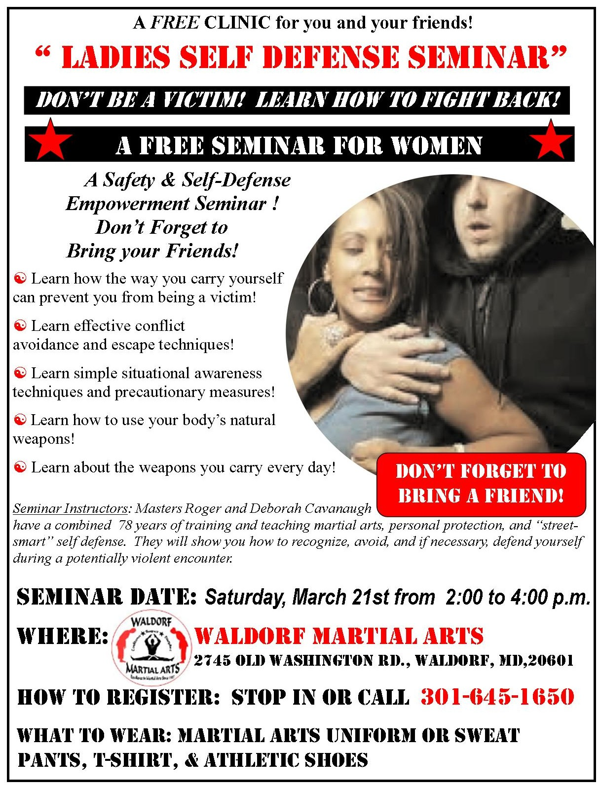 2015 March safety and self defence flyer
