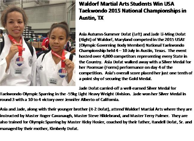 Press release of Jade n Asia USAT Champs