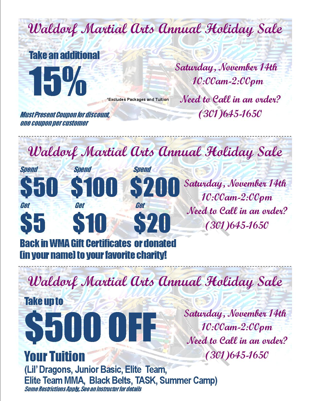 2015 Holiday Sale Coupons