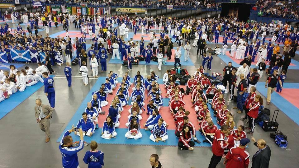 Team USA on arena floor
