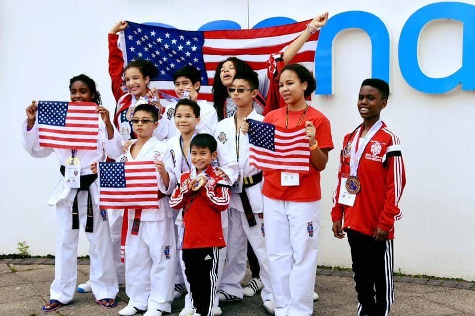 Team USa at Barclayard Arena Pic