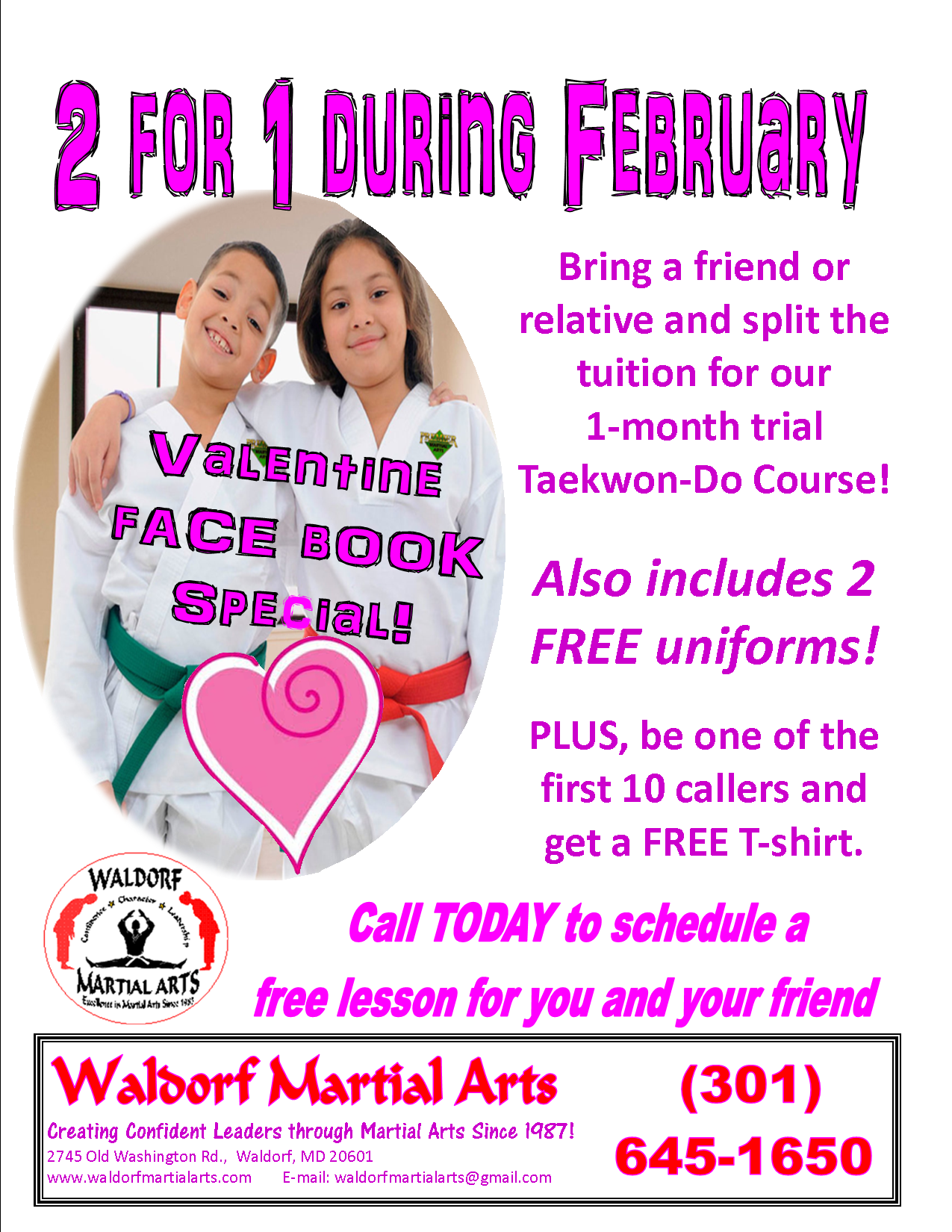 valentines 2 for 1 FB ad